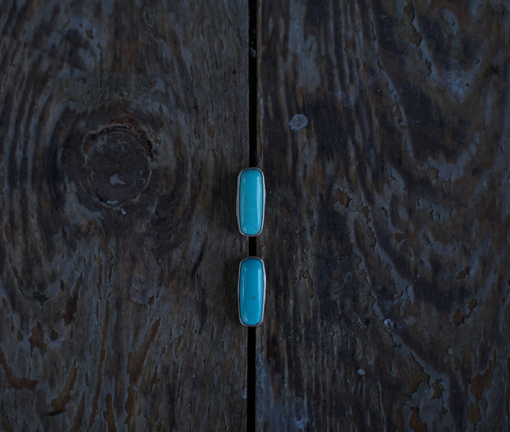 The Turquoise Bar Earrings. American Mined Turquoise goodness. LRG