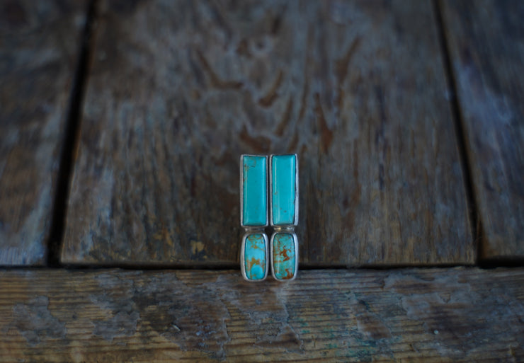 Vertical Bar posts. American Mined Turquoise goodness