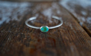 Alpine Lake Cuff. Turquoise + Reclaimed sterling silver.