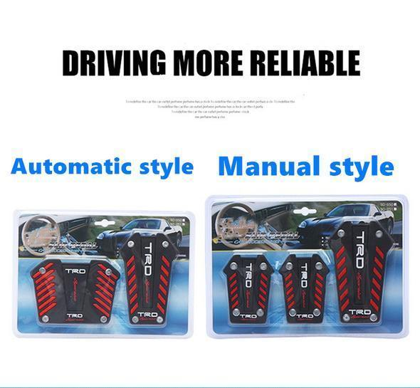 Universal Aluminum Non-Slip Gas Brake Pedals Sports Cover Set for all cars