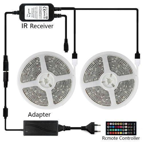 RGB LED Strip Lights - Remote Control Included