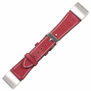 Fine Calf Leather Fitbit Charge 2 Strap | Fitbit Charge 2 | Red