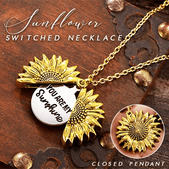 You Are My Sunshine Necklace - Sunflower Switched Necklace