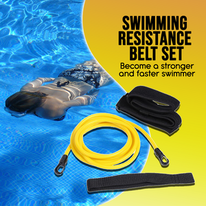 Swimming Resistance Belt Set