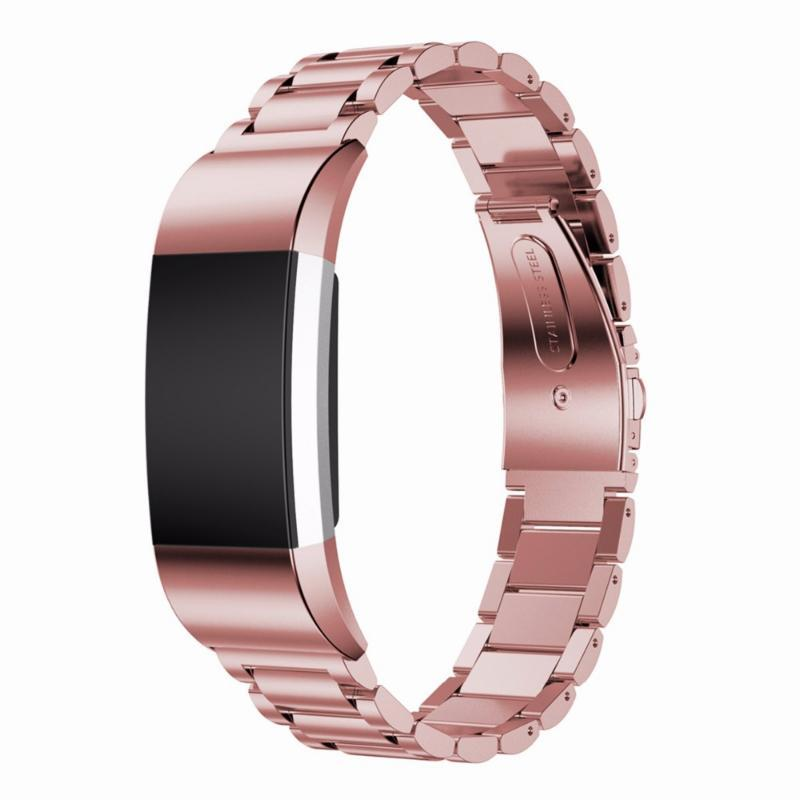 Stainless Steel Colored Fitbit Charge 2 Strap | Fitbit Charge 2 | Pink