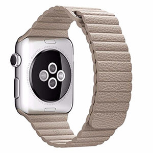 Magnetic Leather Loop Apple Watch Strap | Apple Watch | Khaki