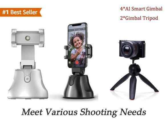 AI Smart Gimbal Personal Robot Cameraman - 360 Rotation & Smart Following Shootings