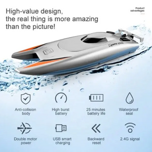 High Speed RC Boat Toy for Children