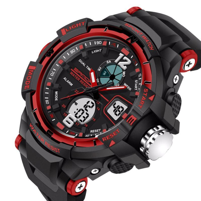Mens LED Digital Sports Watch | Sports Watch | Red