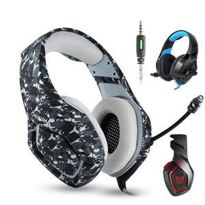 Fortmic Fortnite Gaming Headset (PS4, XB1, PC) | Gadget | Gray Camo Edition