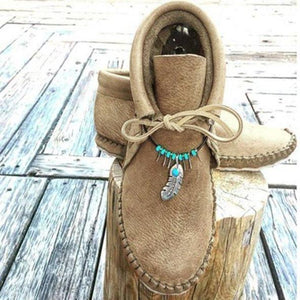 Mother's day Promotion 50% OFF Cowhide Leather Moccasins