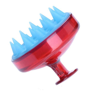 Shampoo Brush Silicone Head Scalp | Beauty | Red