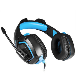 Fortmic Premium Fortnite Gaming Headset for PS4, XB1, PC | Gadget | BLUE LIGHTNING EDITION