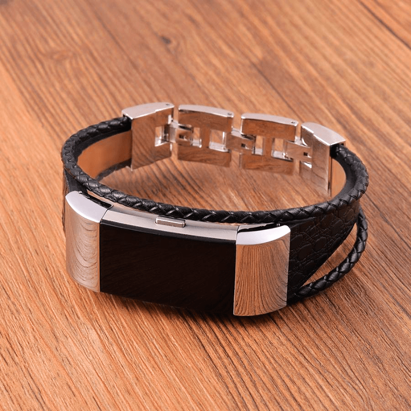 Leather Bracelet Fitbit Charge 2 Strap | Fitbit Charge 2 | Black
