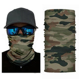 FACE MASK AND NECK WARMER WITH DUST AND SUN UV PROTECTION - US FLAG