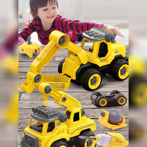 DIY Electric Bulldozer - Take Apart Toy With Electric Drill