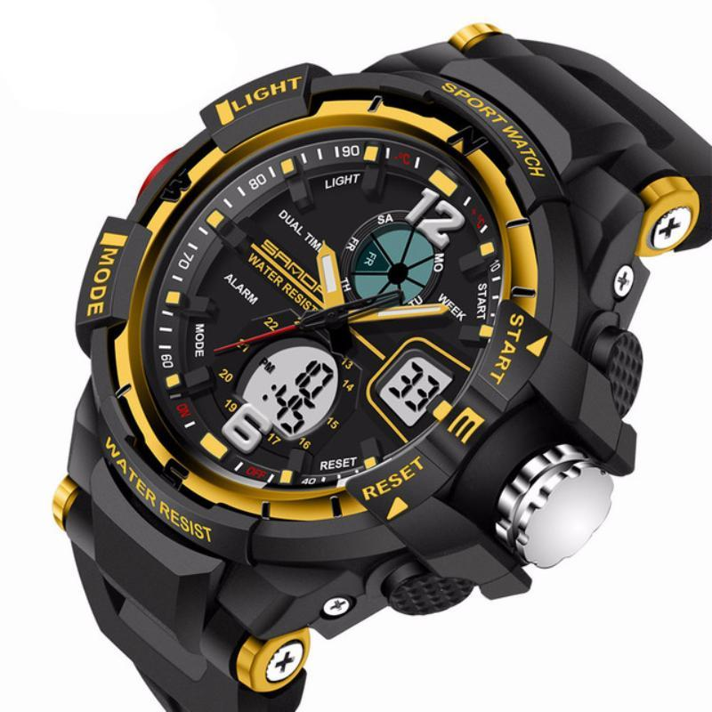 Mens LED Digital Sports Watch | Sports Watch | Gold