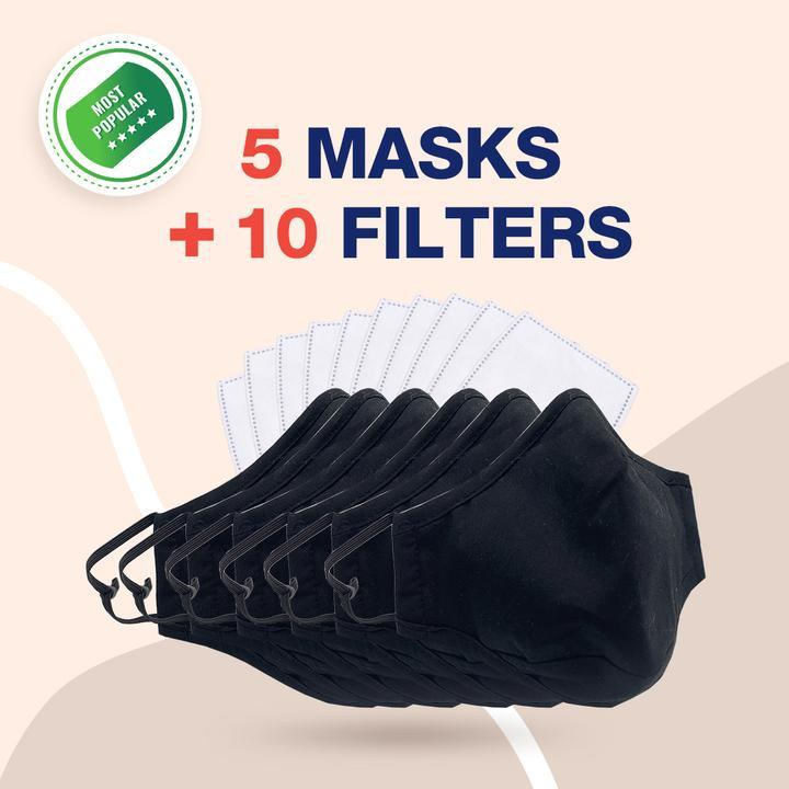 Face Mask - Reusable Multi-Layer Cotton FACE COVERS
