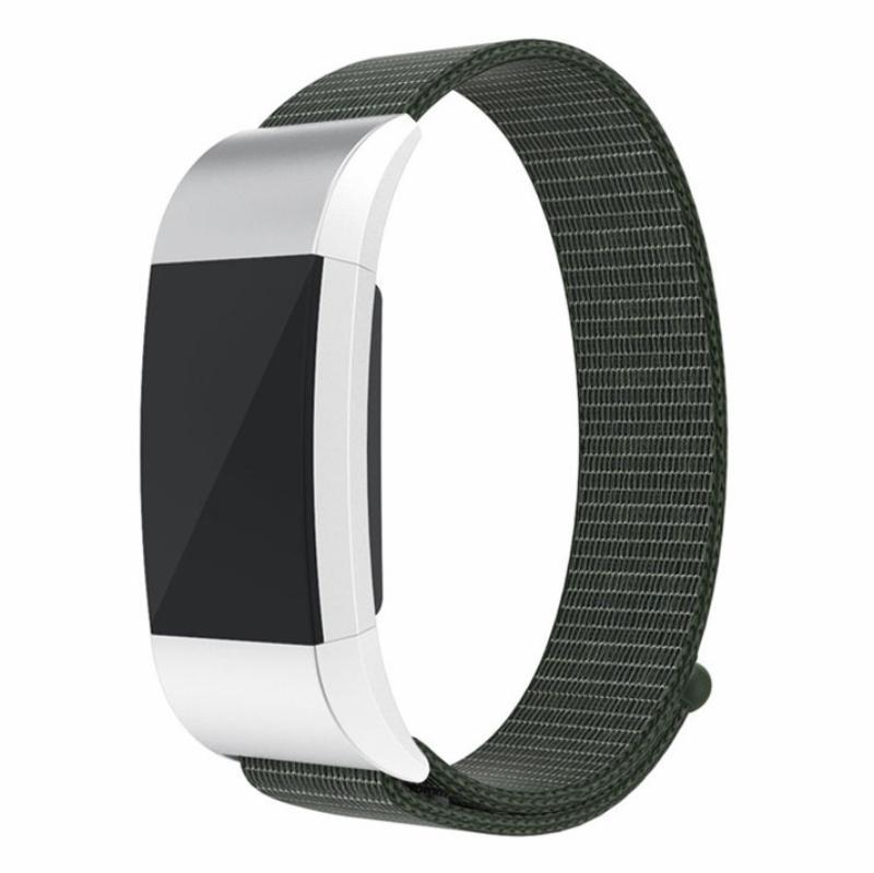 Sports Nylon Loop Fitbit Charge 2 Strap | Fitbit Charge 2 | Dark Olive