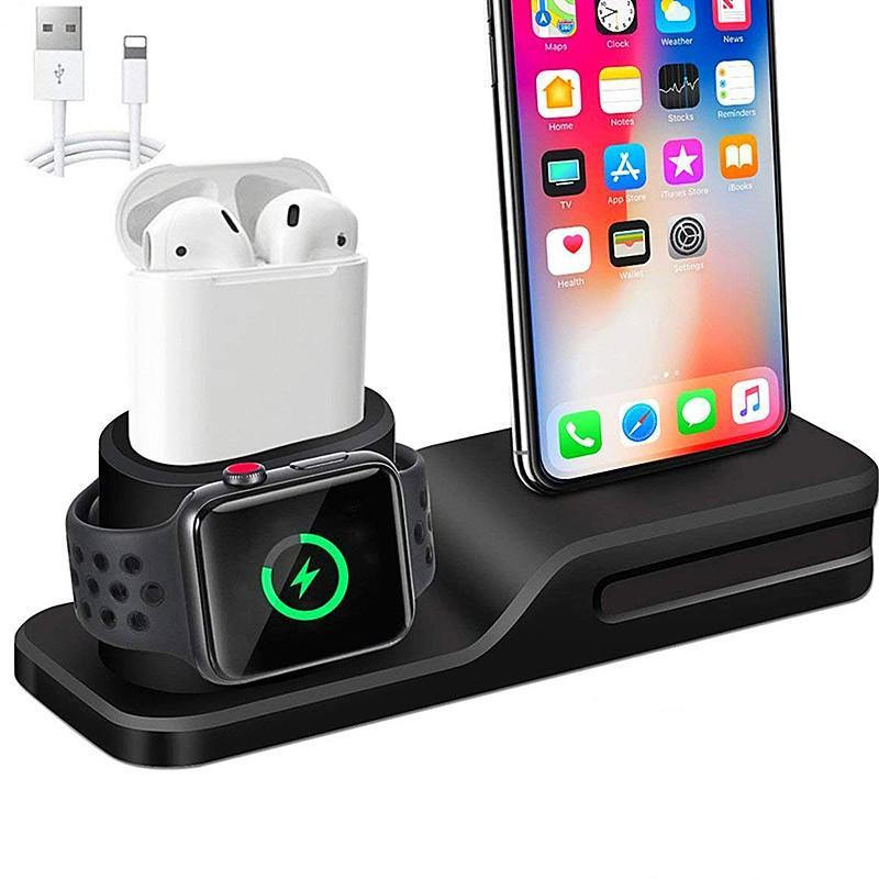 3 In 1 Charging Dock for Iphone, Apple Watch & Earpods | Charging Stand | [option1]