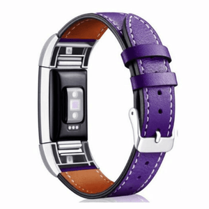 Deluxe Handcrafted Leather Fitbit Charge 2 Strap | Fitbit Charge 2 | Purple