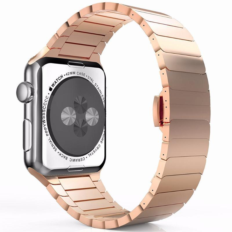 Stainless Steel Butterfly Loop Apple Watch Strap | Apple Watch | Rose Gold