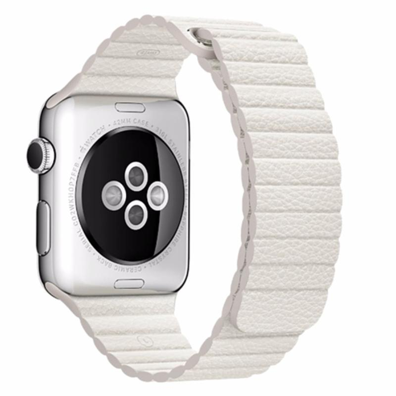 Magnetic Leather Loop Apple Watch Strap | Apple Watch | Milk