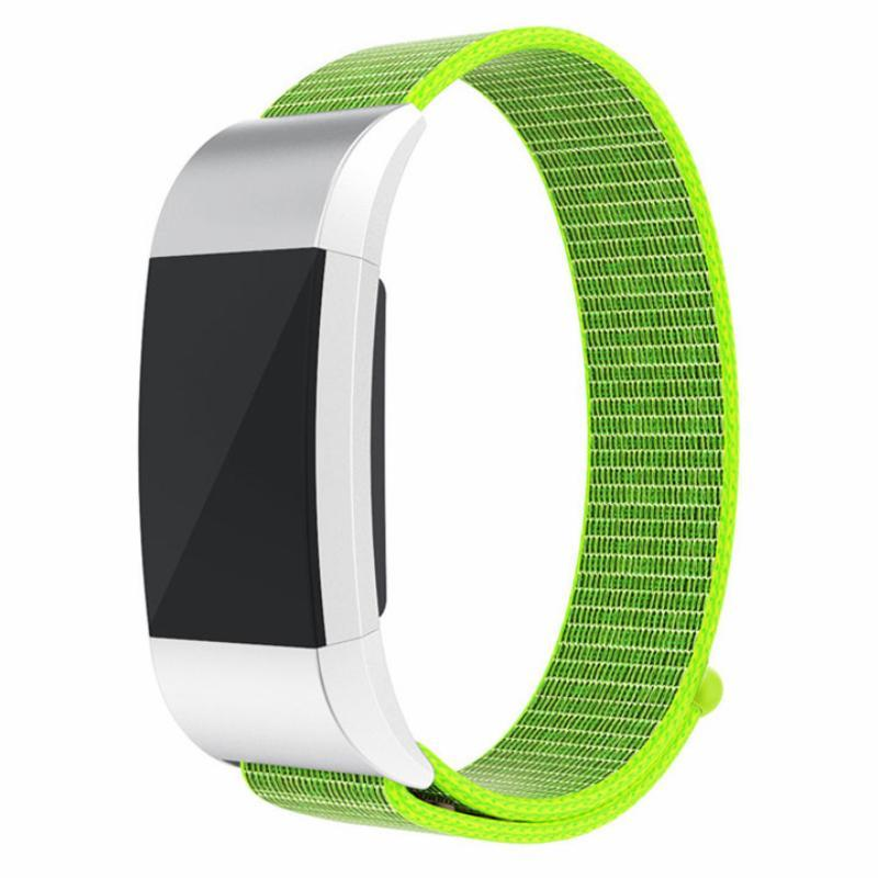 Sports Nylon Loop Fitbit Charge 2 Strap | Fitbit Charge 2 | Yellow Green