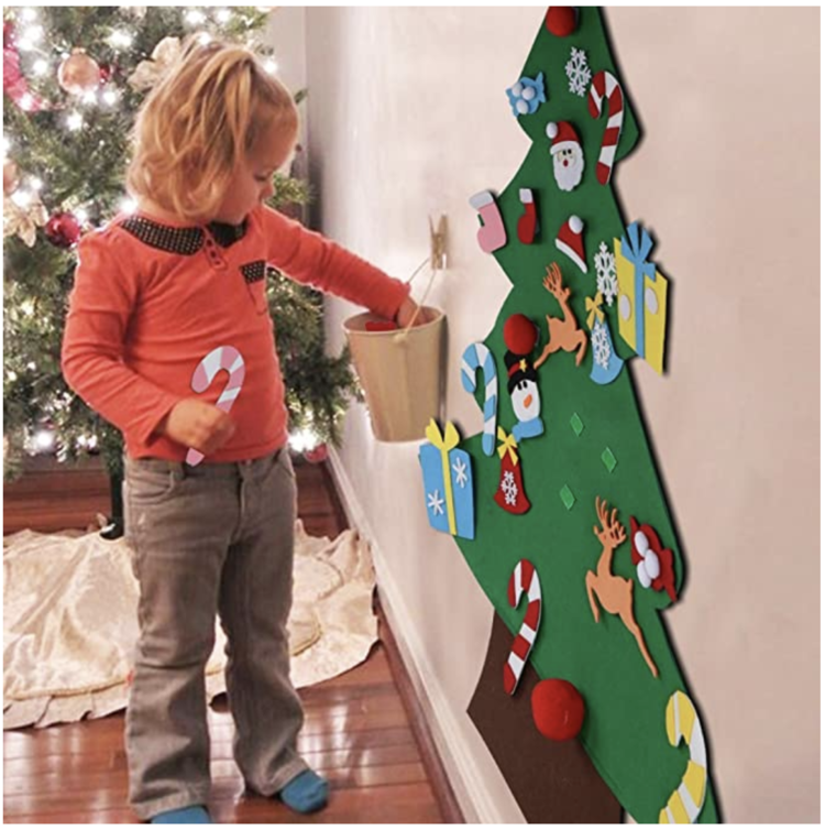 DIY Felt Christmas Tree For Kids + Spare Ornaments Bundle