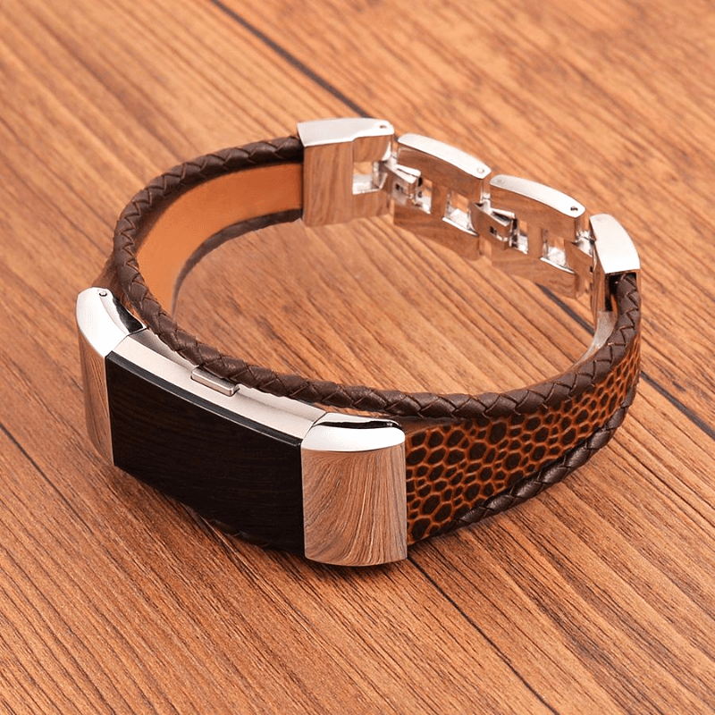 Leather Bracelet Fitbit Charge 2 Strap | Fitbit Charge 2 | Stone Brown