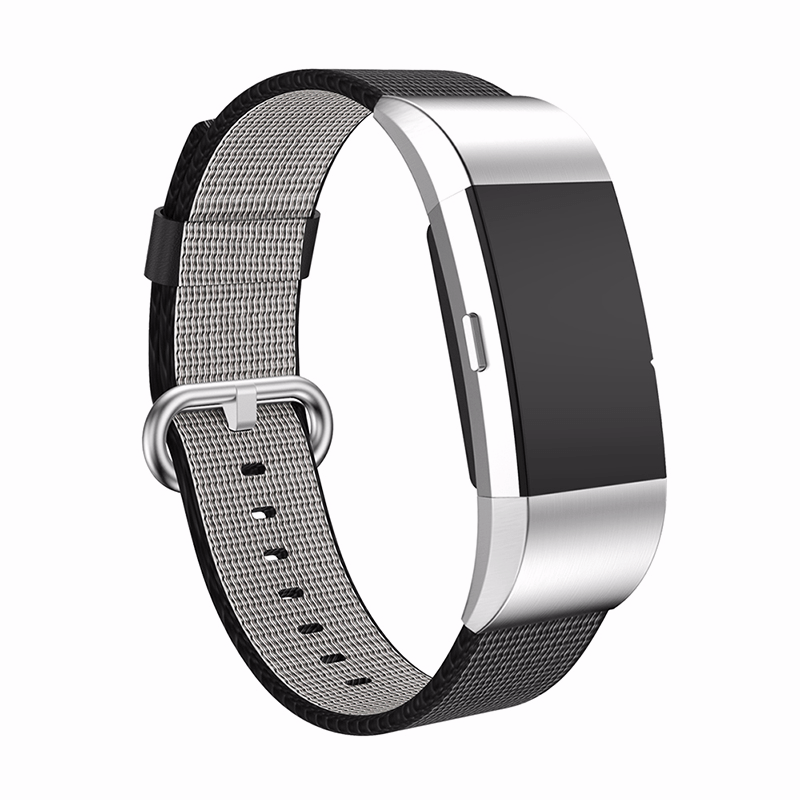 Woven Nylon Fitbit Charge 2 Strap | Fitbit Charge 2 | Black