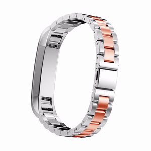 Stainless Steel Fitbit Alta/Alta HR Strap | Fitbit Alta | Silver/ Rose Gold