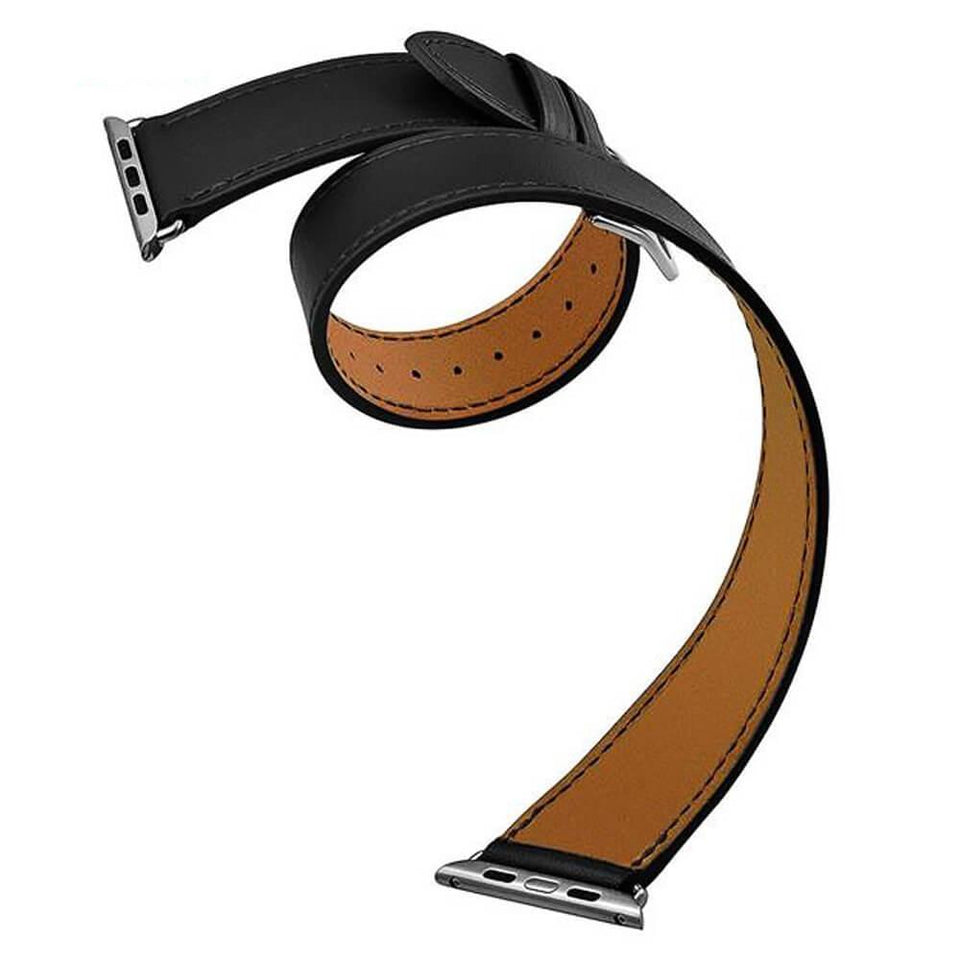 Handcrafted Leather Wrap Apple Watch Strap | Apple Watch | Black 38mm/40mm