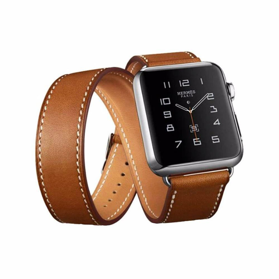 Handcrafted Leather Wrap Apple Watch Strap | Apple Watch | Brown 38mm/40mm