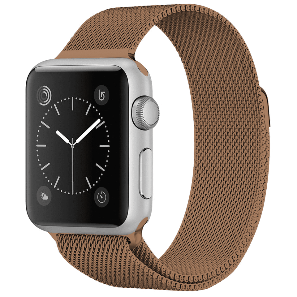Milanese Stainless Steel Apple Watch Strap | Apple Watch | Coffee