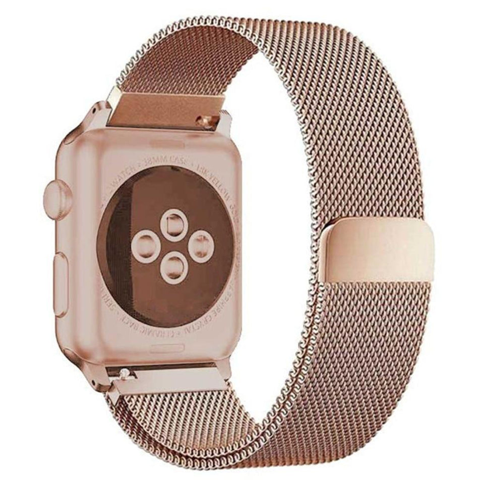 Milanese Stainless Steel Apple Watch (Series 4) Strap | Apple Watch | Light Gold