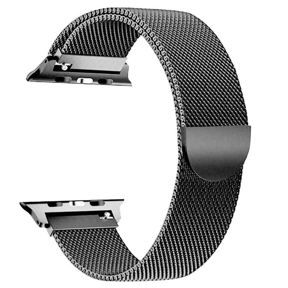 Milanese Stainless Steel Apple Watch (Series 4) Strap | Apple Watch | Black