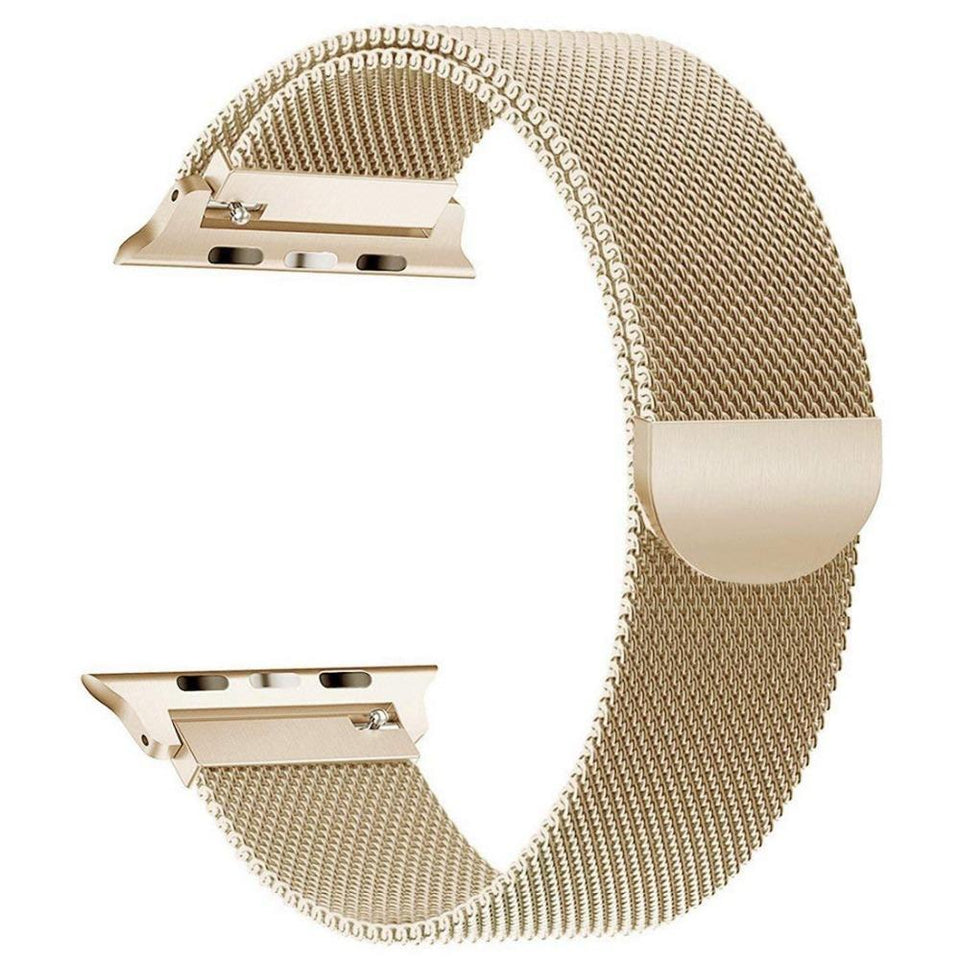 Milanese Stainless Steel Apple Watch (Series 4) Strap | Apple Watch | Gold