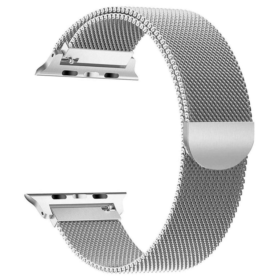 Milanese Stainless Steel Apple Watch (Series 4) Strap | Apple Watch | Silver