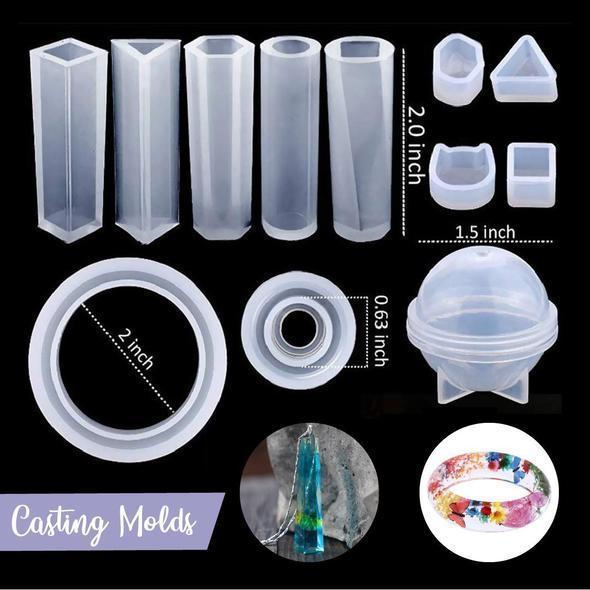 DIY Handmade Crystal Glue Mold Set - 83pcs