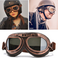 Vintage Motorcycle Goggles | [product_type] | Black