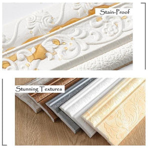 Self-Adhesive 3D Wall Edging Strip