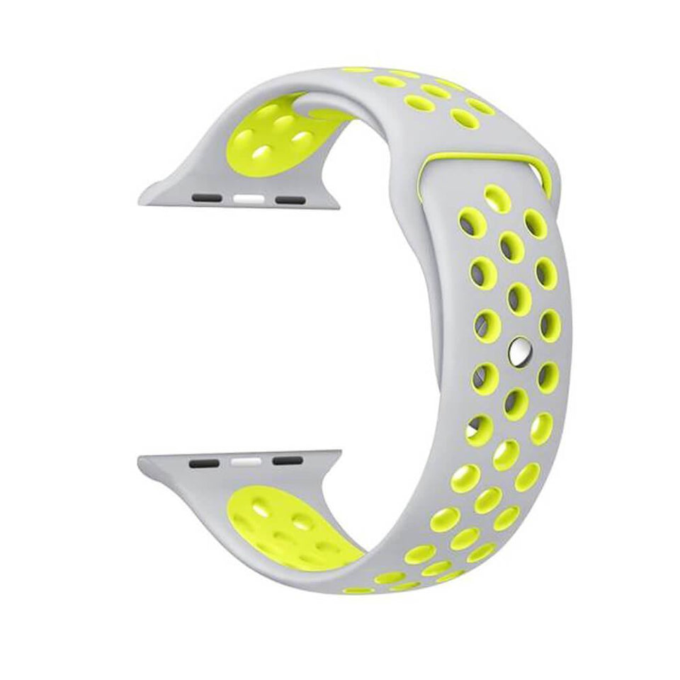Sports Apple Watch Strap | Apple Watch | Grey Yellow