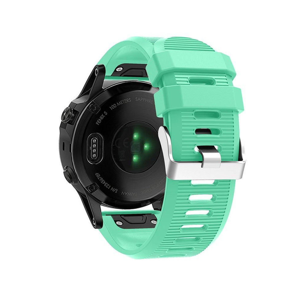 Silicone Sports Garmin Fenix 3/5X/5X Plus Strap | Garmin Watch Strap | Mint green