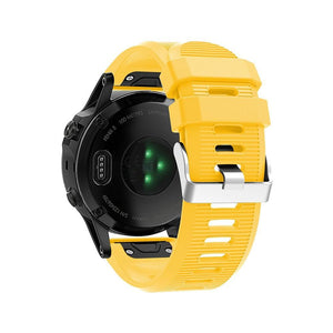 Silicone Sports Garmin Fenix 3/5X/5X Plus Strap | Garmin Watch Strap | Yellow