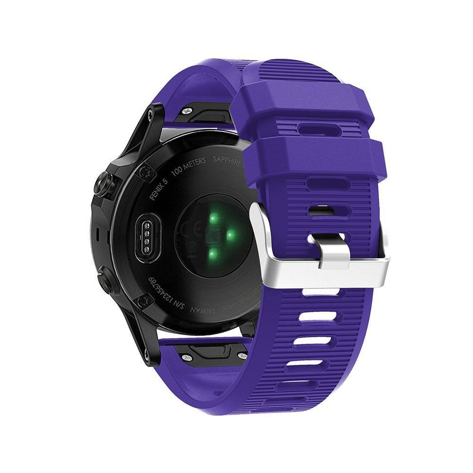 Silicone Sports Garmin Fenix 3/5X/5X Plus Strap | Garmin Watch Strap | Purple