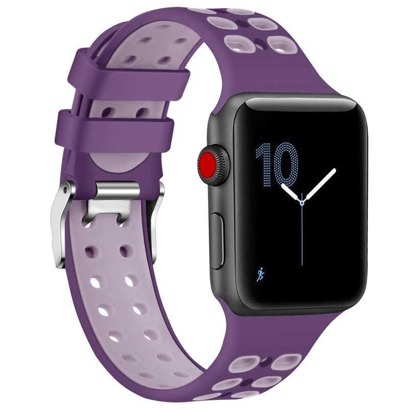 2 Tone Breathable Silicone Sport Apple Watch Strap | Apple Watch | Purple