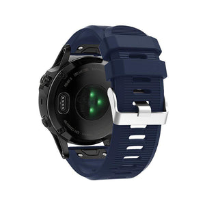Silicone Sports Garmin Fenix 3/5X/5X Plus Strap | Garmin Watch Strap | Midnight blue
