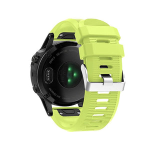 Silicone Sports Garmin Fenix 3/5X/5X Plus Strap | Garmin Watch Strap | Green
