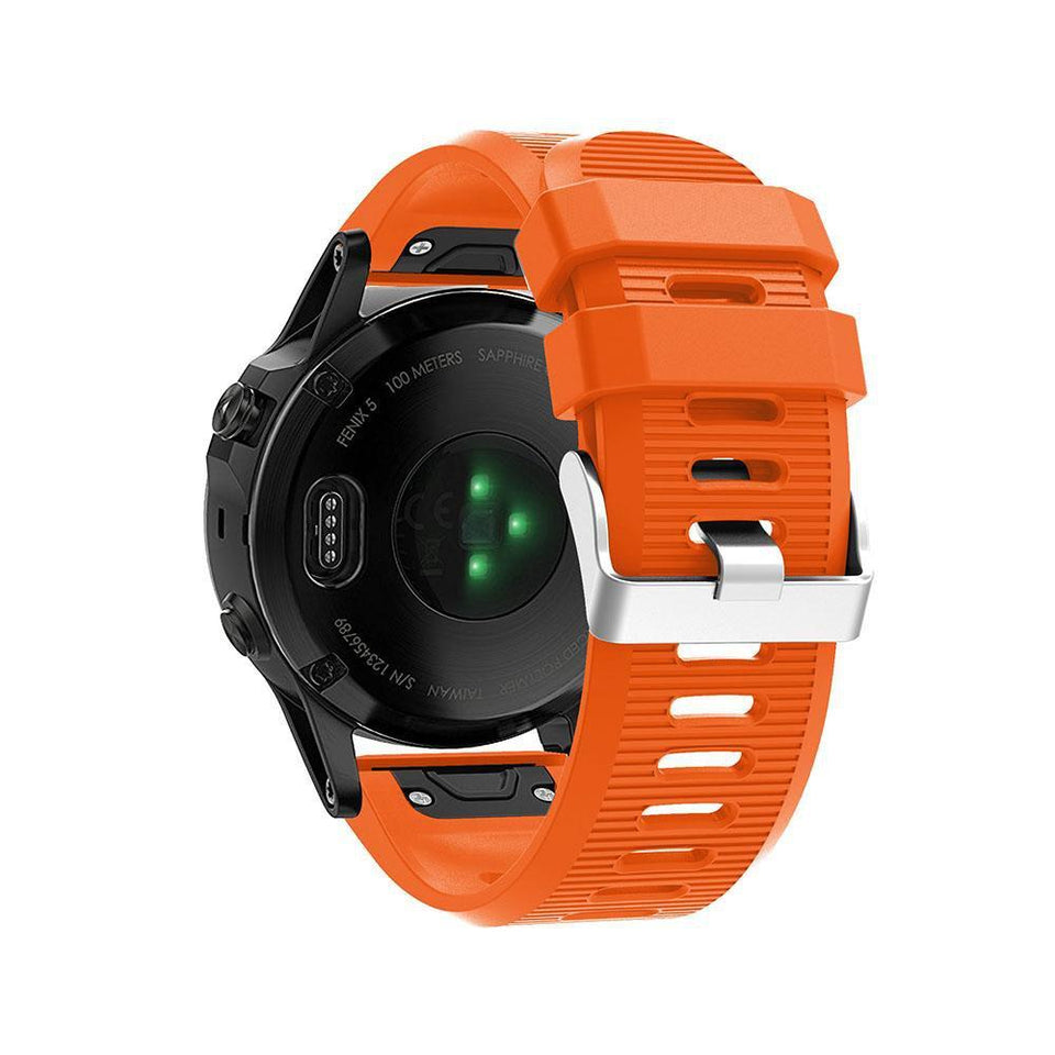 Silicone Sports Garmin Fenix 3/5X/5X Plus Strap | Garmin Watch Strap | Orange